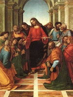 """309. """"Jesus apareceu no meio deles e lhes disse: A paz esteja convosco"""" (Mc 16,36)"""