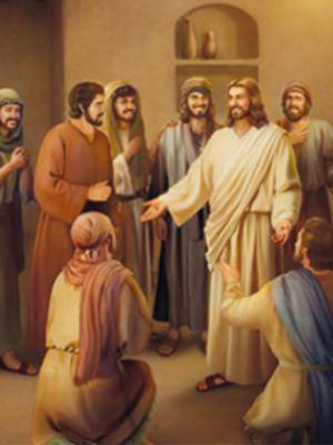 """315. """"Soprou sobre eles e disse: a quem perdoardes os pecados, serão perdoados; a quem o retiverdes, lhes serão retidos"""" (Jo 20,22-23)"""