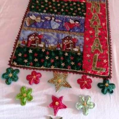 Panô de Natal em patwork