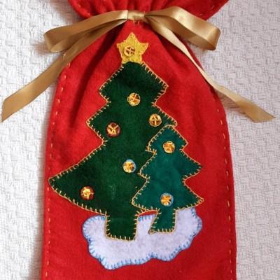 Saco Decorativo De Natal Em Feltro
